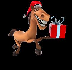 Santa horse graphic