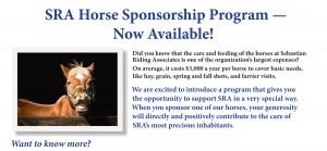 Horse Sponsorship 2015 Program